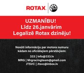 Līdz 26.janvārim aicina licencēt ROTAX dzinējus